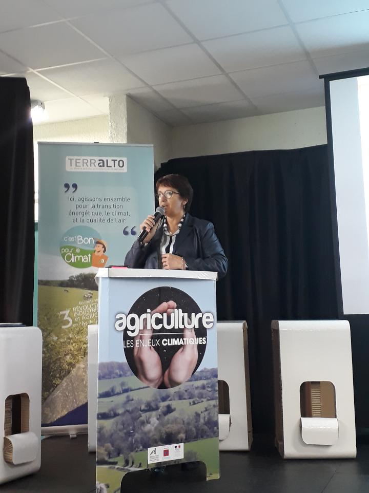 Christiane Lambert à la journée Agriculture et climat à Angers