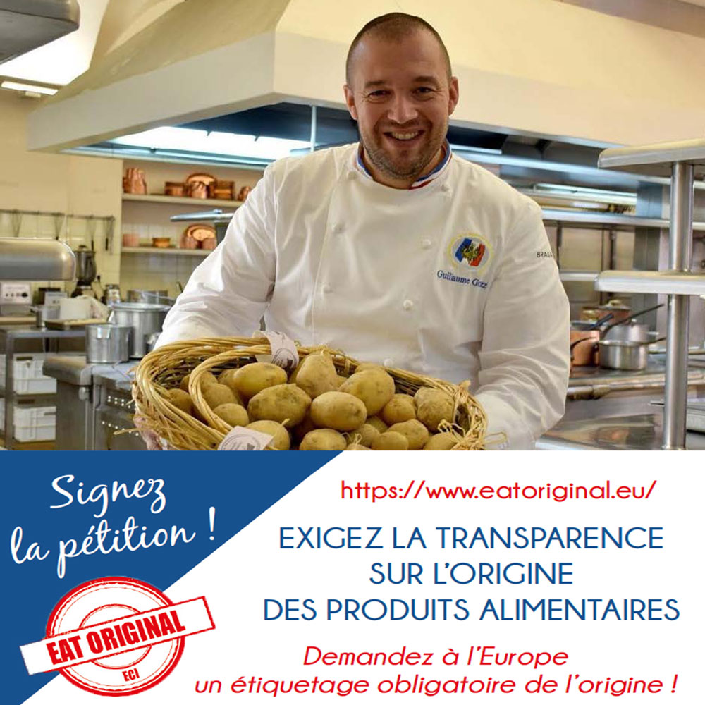 Exigez la transparence sur l'origine des produits alimentaires !