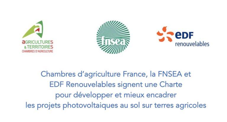 Une Charte pour développer et mieux encadrer les projets photovoltaiques au sol sur terres agricoles