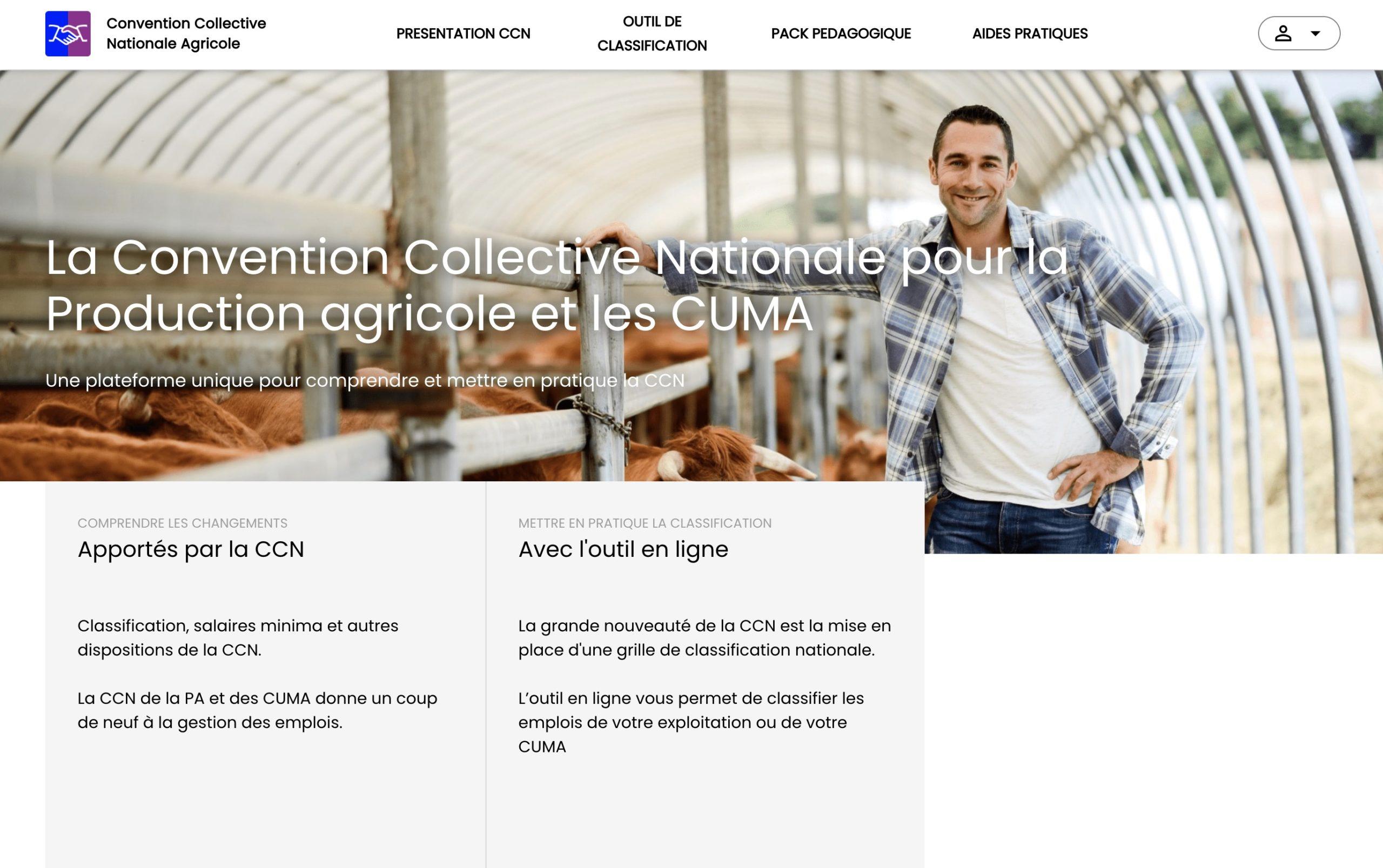 Convention collective nationale de la production agricole et des CUMA : un site du réseau FNSEA pour accompagner les employeurs